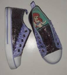 Tênis pequena sereia Ariel Disney Store Tam 29