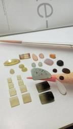 Diversas pedras preciosas para joalheria