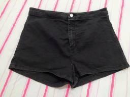 Shorts Jeans Preto