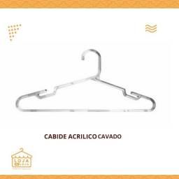 Título do anúncio: Cabide Acrilico Cristal Cavado (Duzia)