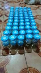 Potinhos de vidros para aniversário de crianças.