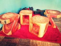 Trabalho em madeiras feitos a mao