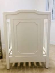 Título do anúncio: Berço madeira maciça em laca branca + colchão  + edredom dupla face + telas de proteção