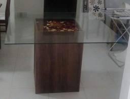 Título do anúncio: Vendo mesa de vidro quadrada