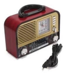 Rádio Retro Am FM USB Novo