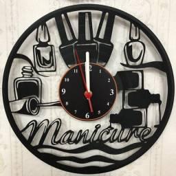 Relógio de parede, Manicure, em Vinil