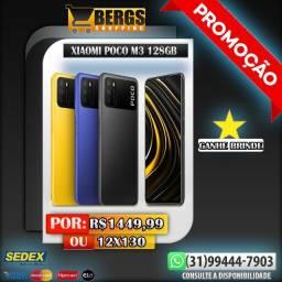 Poco M3 4/128GB / Lançamento / Ganhe Brinde / 12x130