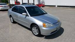 Honda Civic 03 Prata automático e Couro!!!