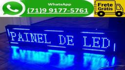 Título do anúncio: Painel Letreiro Led Digital Luminoso 130x20 Cm Indoor 1,30 x 0,20 M (NOVO)