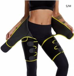 Cinta Térmica Feminina Cintura Coxa Bumbum Ajustável 3 Em 1 Fitness Exercícios(S)