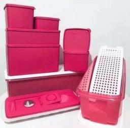 Tupperware kit 9 Peças Rosa Gelados e Congelados Conjunto jeitoso e jeitosinho