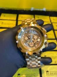 Relógio Invicta novo Venom hybrid dourado
