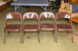 Título do anúncio: Cadeira / Bar / Restaurante em Ferro Marrom 75 cm x  42 cm x  40 cm
