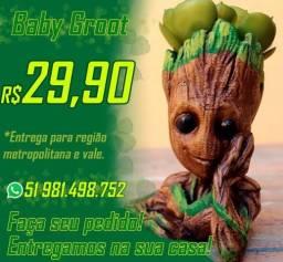 Baby Groot Vaso Ou Porta Objetos - 15 Cm Marvel 4 Modelos