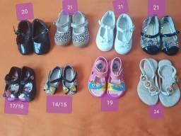 Calçados infantis vários tamanhos