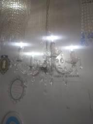 Lustre Candelabro de Acrílicos