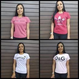 Camisetas Feminina - Promoção - Várias estampas - Fazemos entrega
