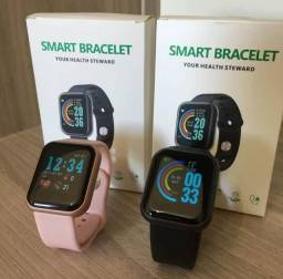 PROMOÇÃO:Smart Watch D20 (Cores: Rose - White - Black)