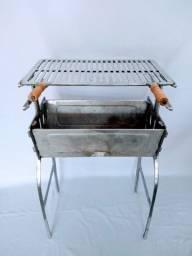 Churrasqueira de alumínio batido grosso resistente