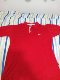 Camisa polo Nike vermelha G