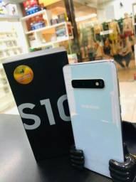Samsung galaxy s10 128g branco // celular sem detalhes