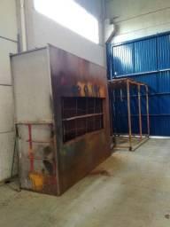 Cabine de pintura a seco