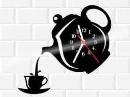 Relógio de parede, Hora do Café, em vinil