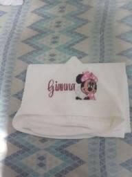 Kit Toalha de banho de capuz com toalha de boca.