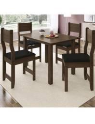 Mesa com 4 cadeiras(seminova)