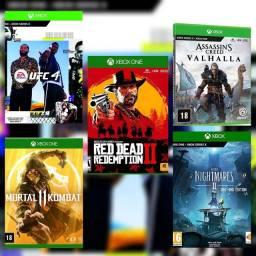 Jogos Xbox one mídia digital