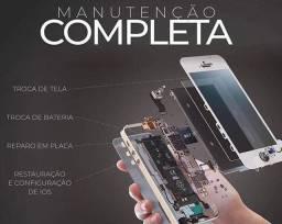 Troca de telas e bateria de iPhone