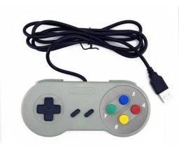 Manete Usb Super Nintendo Joystick Snes Emulador Pc