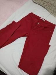 Título do anúncio: Calça skinny vermelha