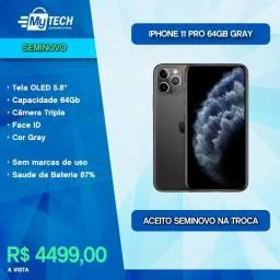 Título do anúncio: iPhone 11 PRO 64Gb Space Gray (Seminovo / Bateria 87%)