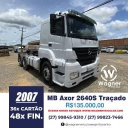 MB Axor 2640S 6x4 Traçado Wagner Veículos