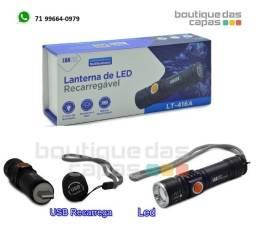 Título do anúncio: Lanterna de led usb recarregável luatek LT-416A (carrega por usb)