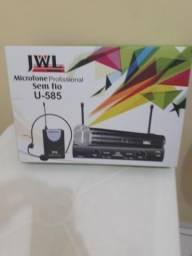 Vendo Microfone Sem fio duplo JWL Profissional zero na caixa