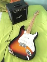 Guitarra e amplificador 400 reais