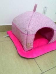 Cama tenda luxo rosa