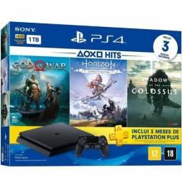 PS4 1TB Kit c/ 3 jogos + 1 ano de garantia