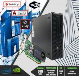 COmputadoR gabinete hp prodesk 600 sff g1 CPu Pc *I5 *8gb *12x *Placa De Video