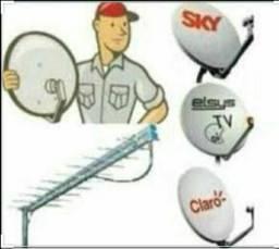Técnico instalador de antenas via satélite