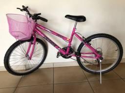 Bicicleta Feminina Infantil aro 20 com cestinha