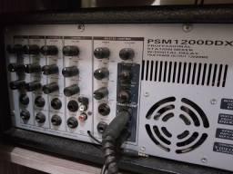 Caixas Acústicas + Mixer