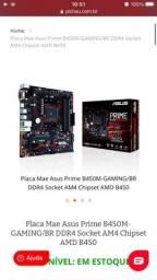 *Placa Mae Asus Prime B450M-GAMING/BR DDR4 Socket AM4 Chipset AMD B450