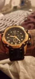 Título do anúncio: Relógio banhado a ouro mont blank