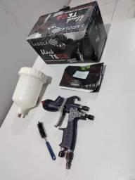 Pistola De Pintura Sagola Azteca Black GTO Tech 1.4 (Tinta E Verniz)