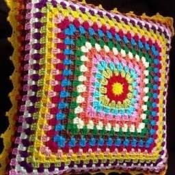 Capas para almofada crochet