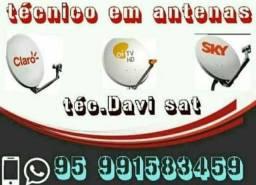 Título do anúncio: Técnico em antenas via satélites