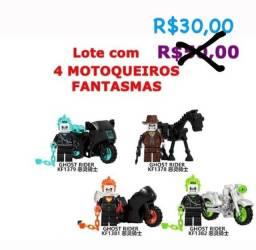 Lote Lego Com Quatro Cavaleiros Fantasmas R$ 30,00